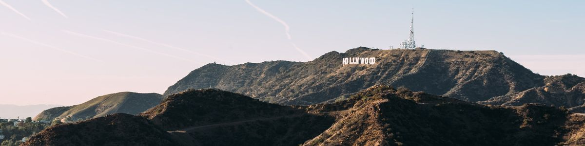Hollywood hills with the Hollywood sign.