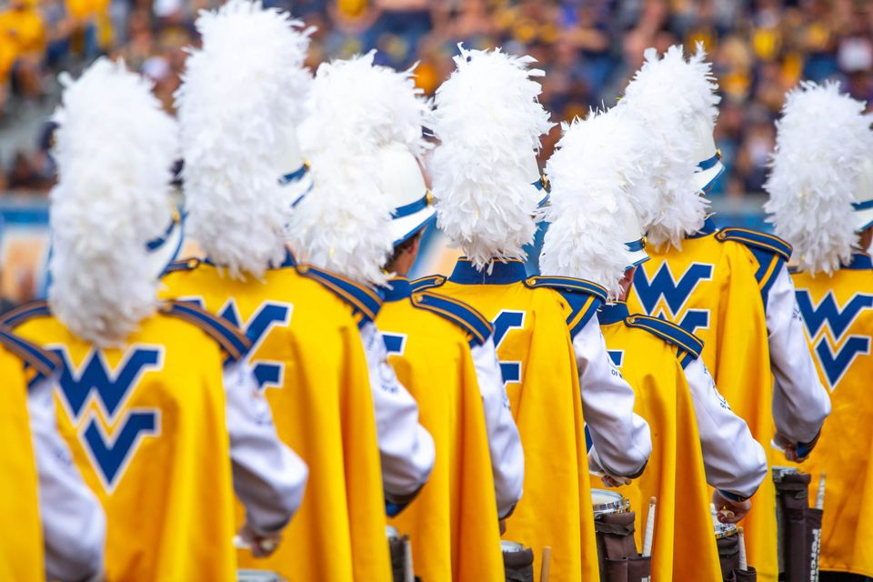WVU Marching Band in uniform
