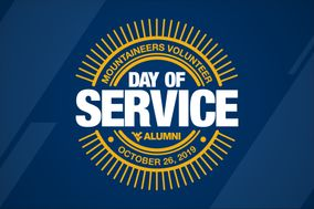 Day of Service - October 26, 2019 logo on blue background