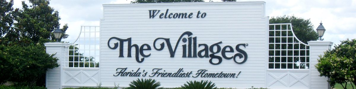 The Villages welcome sign.