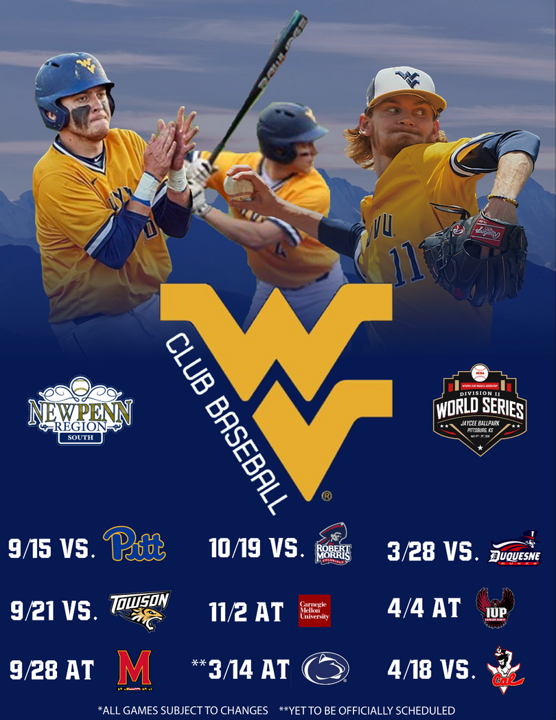 Our team schedule poster.