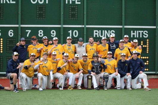 WVU Baseball Club team picture after the 2019 Regional Championship win