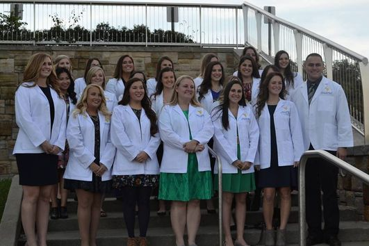 First, second, and third year students at the 2016 White Coat Ceremony