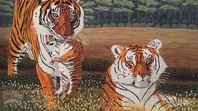 Jim Fogle Tiger Painting