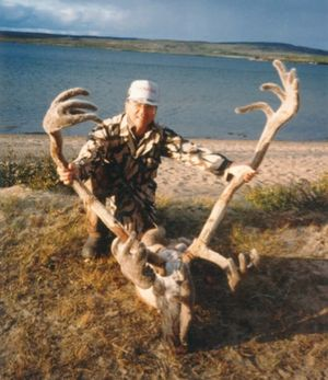 Samuel with Caribou head