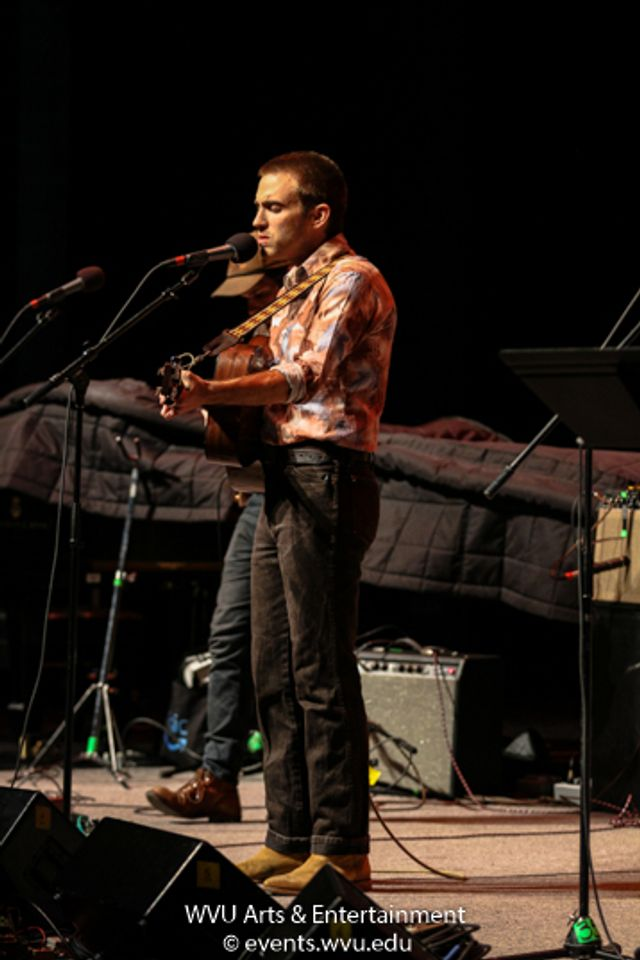 Andrew Combs performing at the WVU Creative Arts Center. Photo by Logan McMasters.