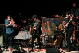 Gregory Alan Isakov performing at the WVU Creative Arts Center. Photo by Graeson Baker.