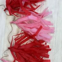 Pink and red tassle garland