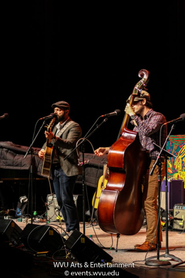 Drew Holcomb and the Neighbors performing at the WVU Creative Arts Center. Photo by Logan McMasters.