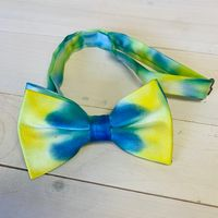 bow tie painted blue and gold