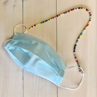 beaded lanyard for face masks