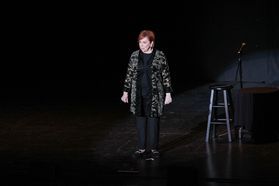 Vicki Lawrence preforms at the WVU Creative Arts Center. Photo by Julia Hillman.