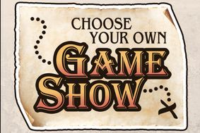 Choose your own Game Show written on a treasure map where X marks the spot