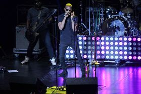 Trombone Shorty and Orleans Avenue perform at the WVU Creative Arts Center. Photo by Julia Hillman.