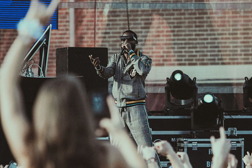 Gucci Mane performing at FallFest 2019. Photo by Julia Hillman.