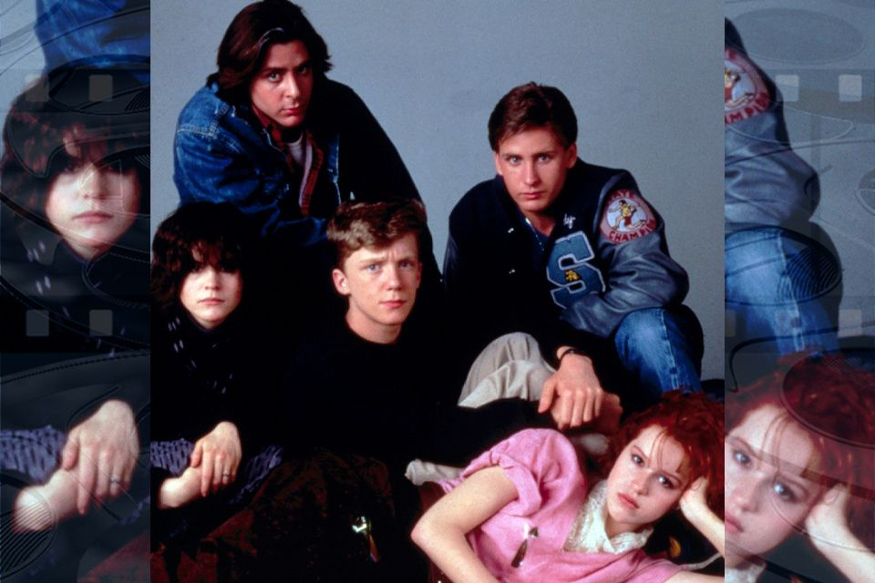 "The cast of the film ""The Breakfast Club."""