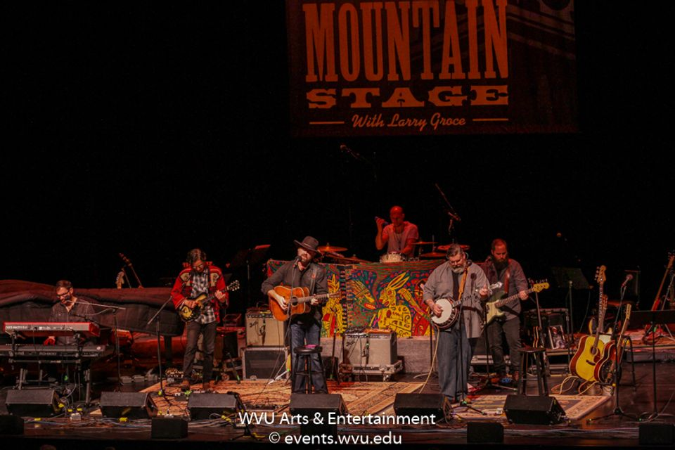 Tyminski performs on Mountain Stage. Photo by Logan McMasters.