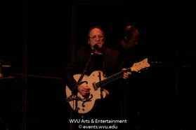 Stephen Stills performing at the WVU Creative Arts Center. Photo by Logan McMasters.