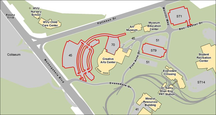 CAC parking map