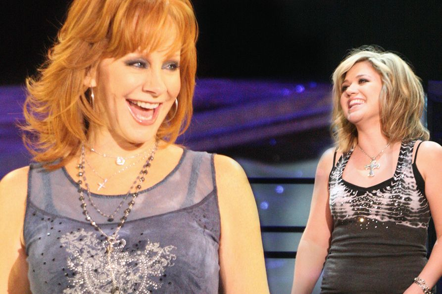 Reba McEntire and Kelly Clarkson photos taken during the 2008 concert at the Coliseum.