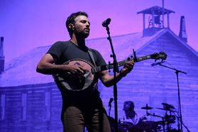 The Avett Brothers performing at the WVU Coliseum. Photo by Julia Hillman.