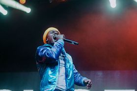 DaBaby performing at the WVU Coliseum. Photo by Julia Hillman.