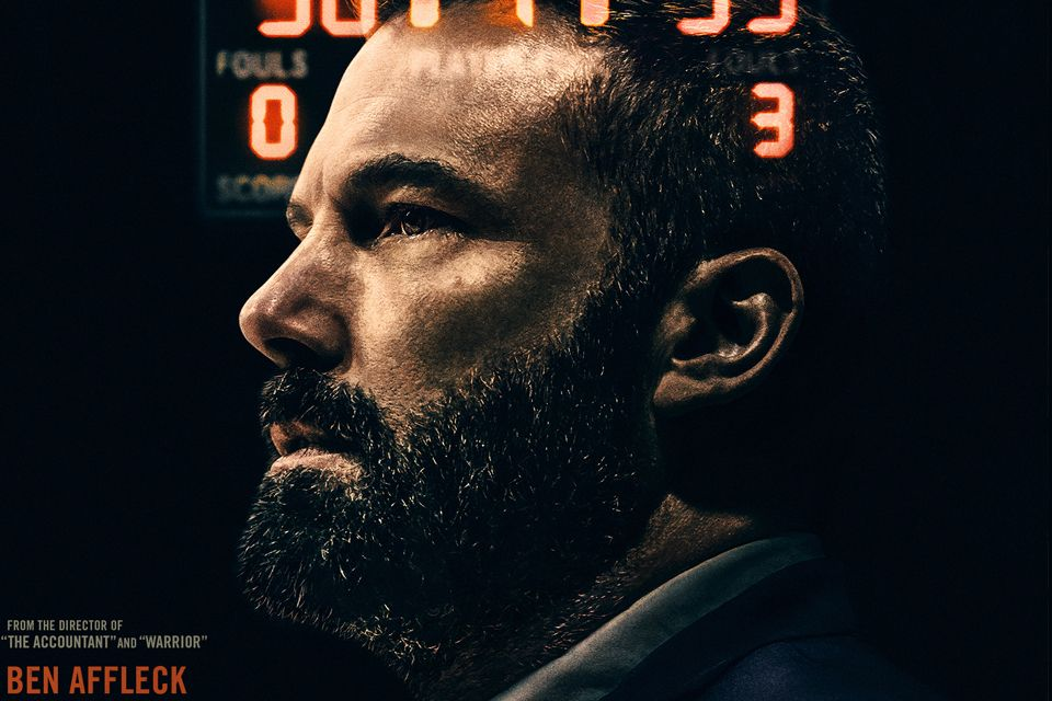 "Movie poster for the ""The Way Back"" featuring a profile of Ben Affleck"