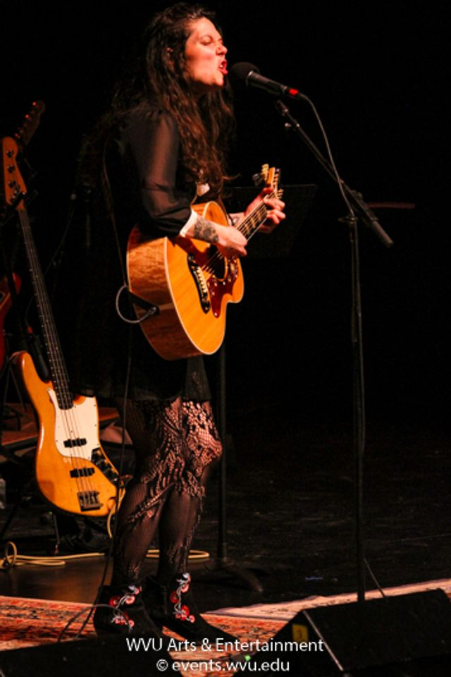 Lilly Hiatt performs on Mountain Stage. Photo by Logan McMasters.