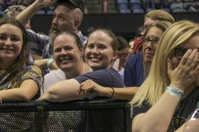 Fans at the Avett Brother concert at the WVU Coliseum. Photo by Julia Hillman.
