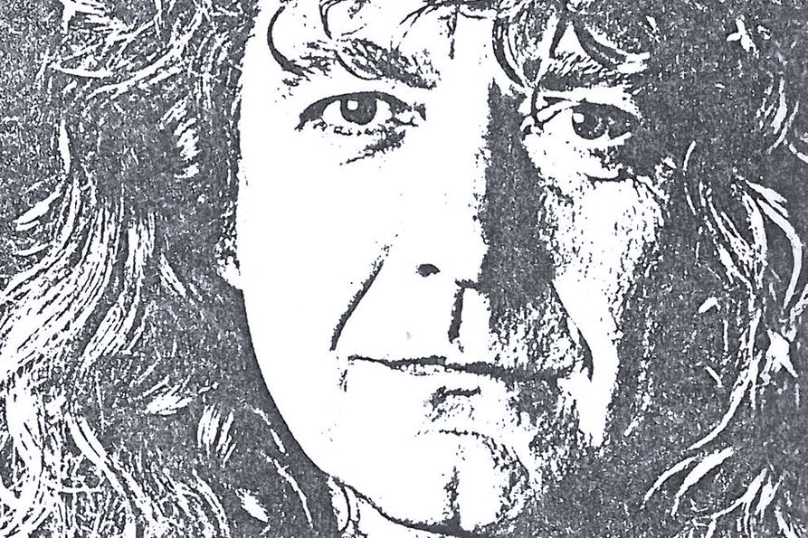 Photo of Robert Plant from 1990 concert advertising