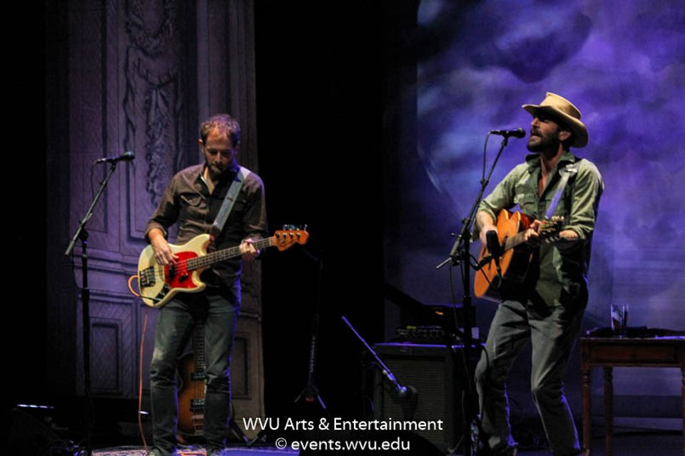 Ray LaMontagne performing at the WVU Creative Arts Center. Photo by Logan McMasters.