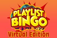 Playlist Bingo Virtual Edition with starburst background