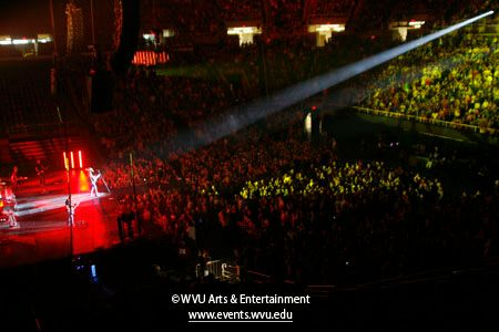 Wide photo of Coliseum crowd during Jason Aldean concert in 2010