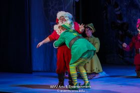A scene from Elf The Musical at the WVU Creative Arts Center. Photo by Logan McMasters.