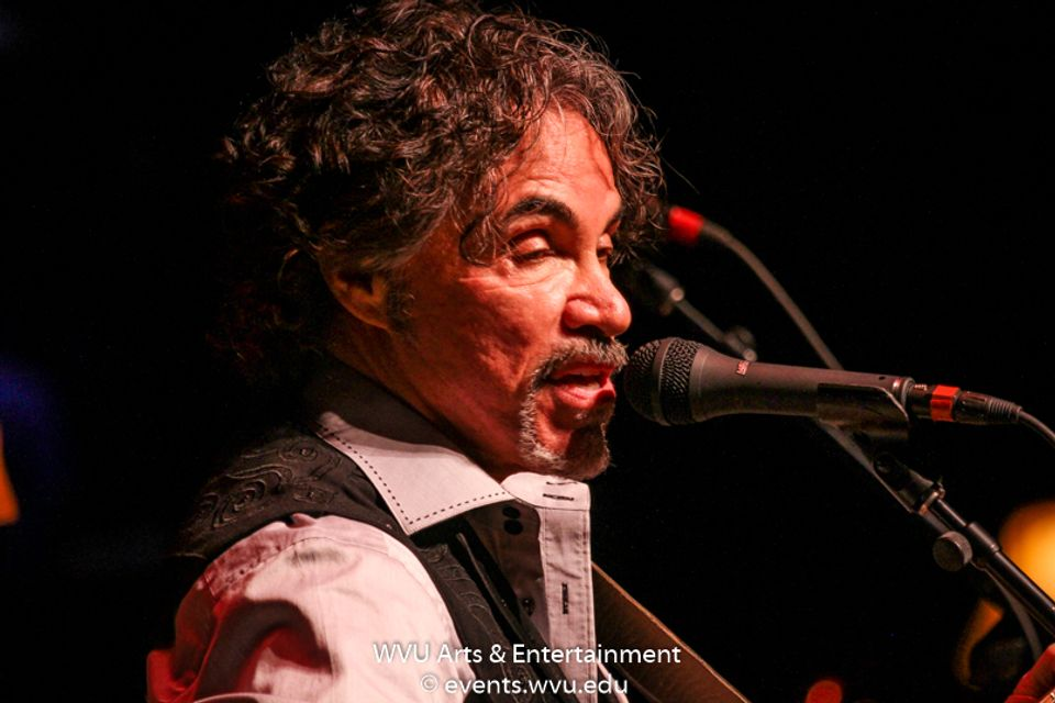 John Oates performs on Mountain Stage. Photo by Logan McMasters.