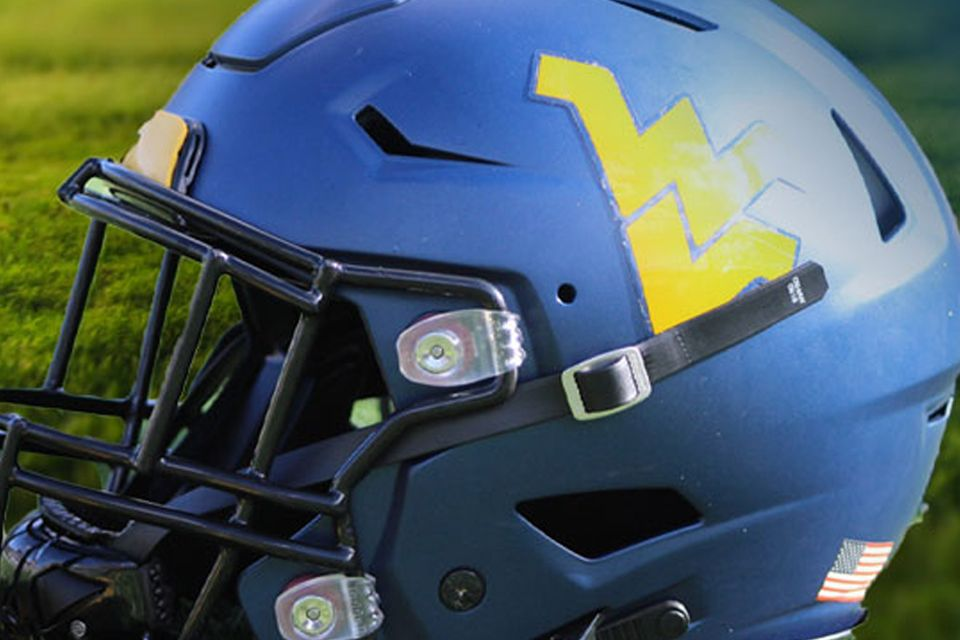 WVU blue football helmet