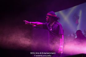 Migos perform at the WVU Coliseum. Photo by Logan McMasters.