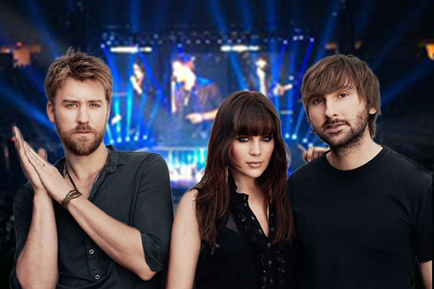 The members of Lady A. Left to right: Charles Kelly, Hillary Scott, Dave Haywood
