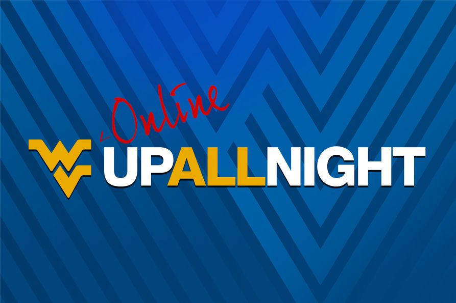 WVUp All Night Online with blue background