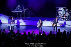 Foreigner performing at the WVU Creative Arts Center. Photo by Logan McMasters.