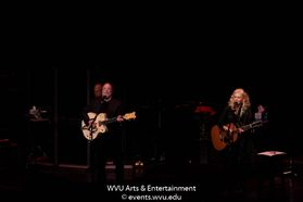 Stephen Stills and Judy Collins performing at the WVU Creative Arts Center. Photo by Logan McMasters.