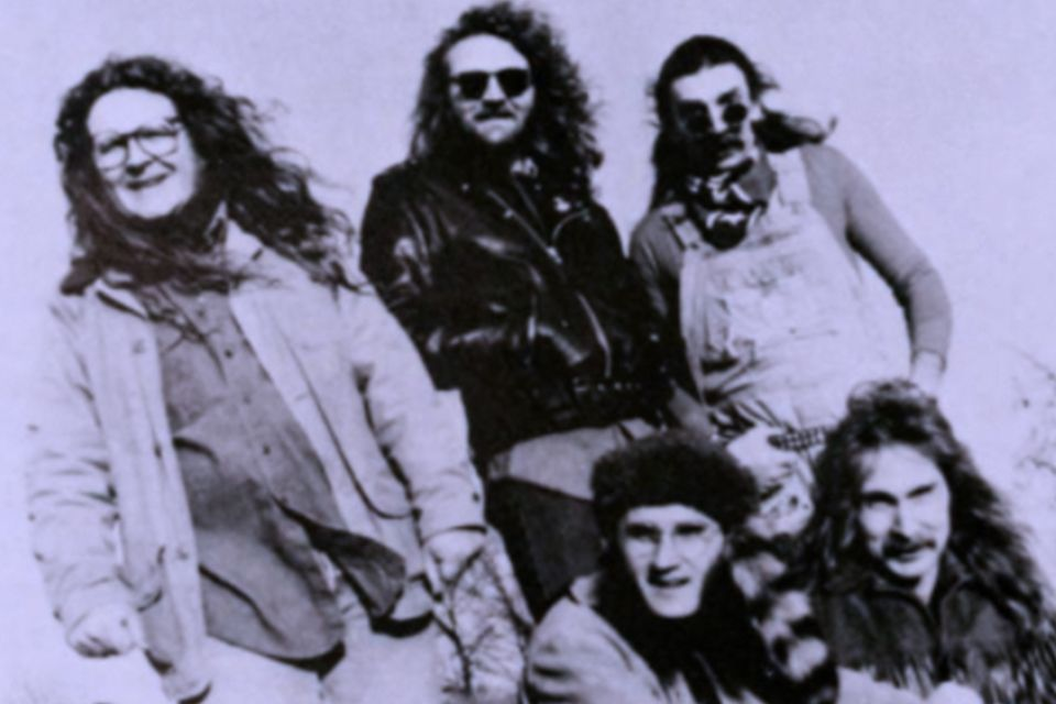 Publicity photo of the members of The Kentucky Headhunters in 1991