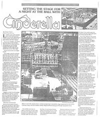 Setting the Stage for a Night at the Ball with Cinderella. Article written by Evelyn Ryan that appeared in the Dominion Post.
