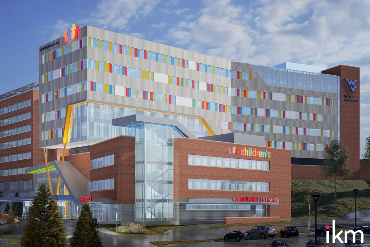 Exterior of Ruby memorial hospital showing new look to the children's wing.
