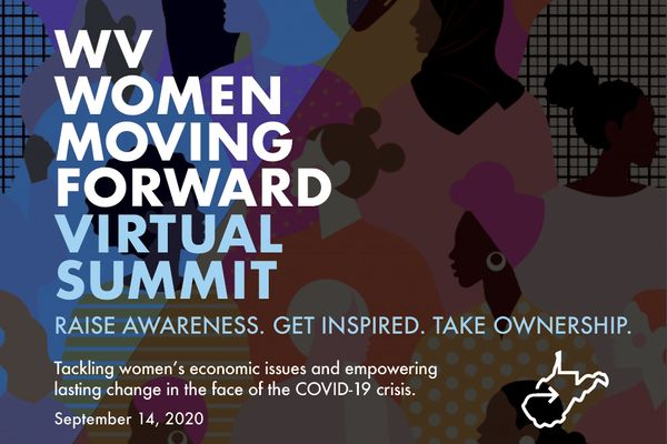Announcement for WV Women Moving Forward Virtual Summit