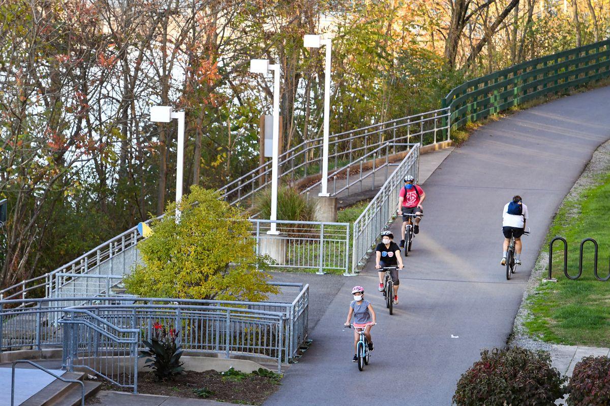 People biking in the park