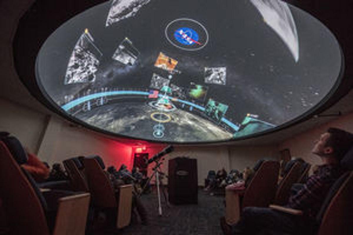 photo of inside of planetarium