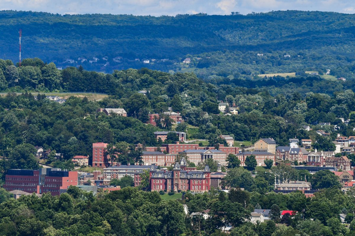 view of Morgantown WVU campus