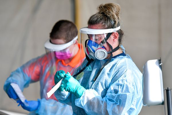 health care workers in protective gear