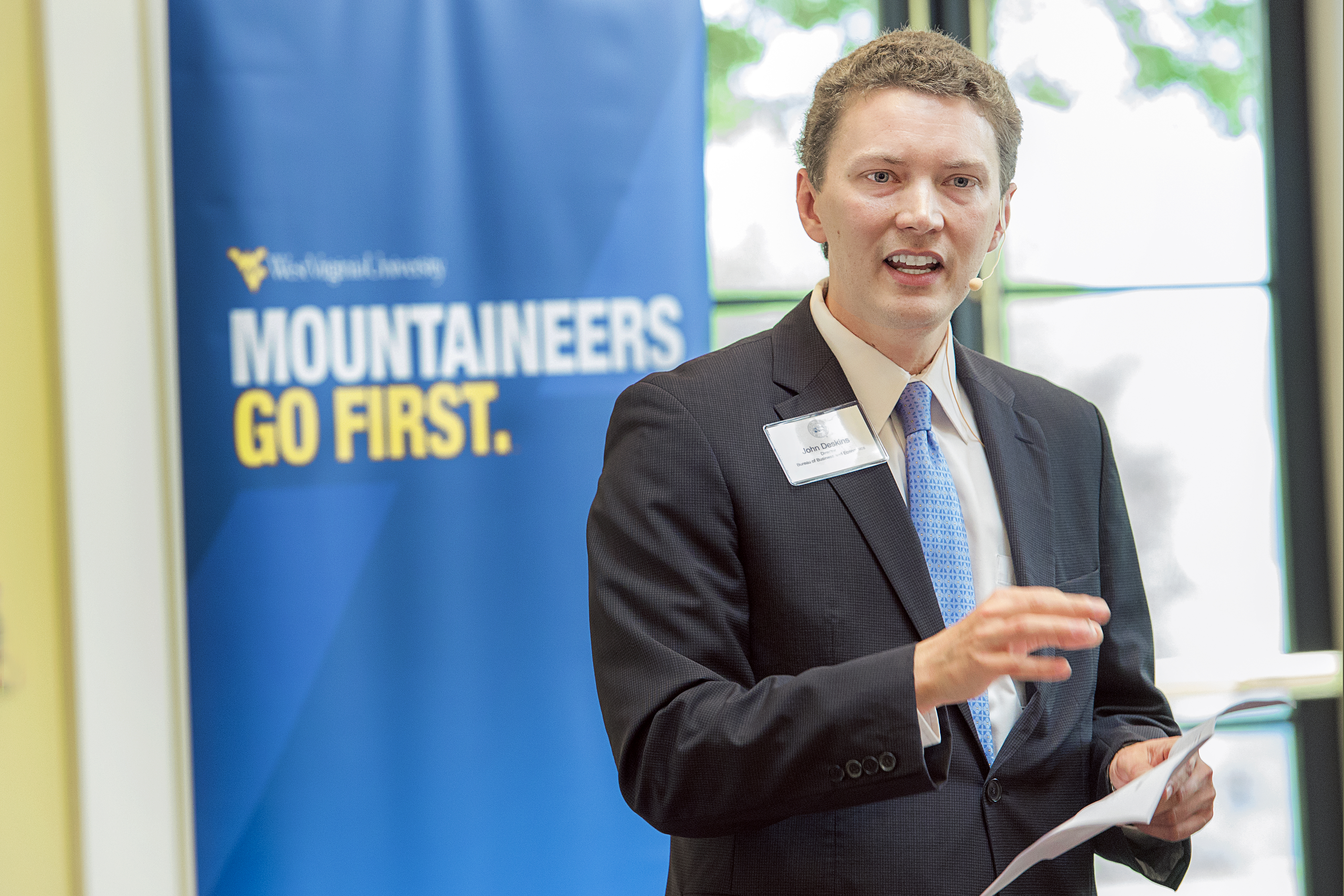 WVU's Bureau of Business and Economics Research director John Deskins.